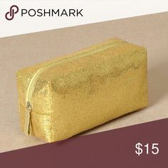 Gold Glitter Makeup Bag New extra large glitter travel size bag...See all styles for more follow us to see new items posted daily! We carry limited edition makeup, makeup brushes and all ladies fashions! Day Dreams Cosmetics Makeup Brushes & Tools