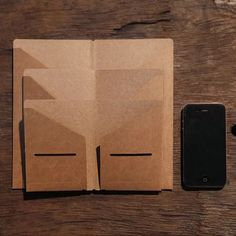 Folders for your Midori Travelers Notebook or fauxdori. You can use this kraft folder to store stickers, receipt, sticky note pad or page markers....