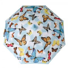 Click on the image to find out to keep your little #girl happy and dry with this colorful kids #umbrella printed with colorful butterflies. https://www.rosemarie-schulz.eu/en/kids-umbrellas/436-children-umbrella-butterflies.html