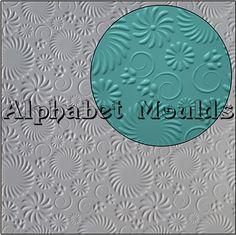 Floral Impression Mat by Alphabet Moulds UK