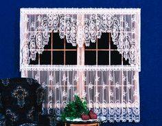 White Lace Swag Curtains | Cameo Rose   HERTIAGE LACE    AMISH TRADITIONS  DIST