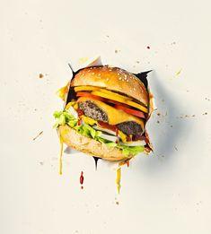 Fotografía de comida de Nick Ghattas - Toronto, Montreal y Ottawa - Comida y bebida Food Graphic Design, Food Poster Design, Food Menu Design, Burger Menu, My Burger, Ottawa Food, Mini Hamburgers, Food Advertising, Le Chef