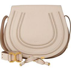 Chloé Women's Marcie Crossbody Saddle Bag (4.460 BRL) ❤ liked on Polyvore featuring bags, handbags, shoulder bags, bolsa, borse, purses, white, shoulder handbags, handbags crossbody and leather shoulder bag