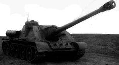 Niszczyciel czołgów SU-122P - jedyny istniejący prototyp tej wersji niszczycieli, który nie wszedł do masowej produkcji