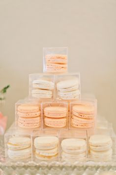 Peach macarons. Cupcake Chateau. Read more - http://www.stylemepretty.com/little-black-book-blog/2014/01/06/mint-equestrian-kendall-plantation-wedding/
