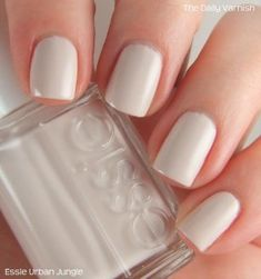 essie gel couture nail polish, take me to thread, taupe nude nail polish, fl. White Nail Polish, Essie Nail Polish, Nail Polish Colors, White Nails, Pink Nails, Gel Polish, Love Nails, How To Do Nails, Pretty Nails