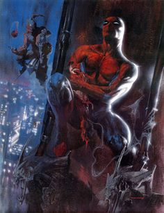Spider-Man vs. Green Goblin by Gabriele Dell'Otto
