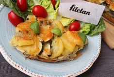Zapekaná cuketa so zemiakmi ako sýty a nízkokalorický obed či večera (Recept) – Fitclan Krabi, Meat, Chicken, Cubs