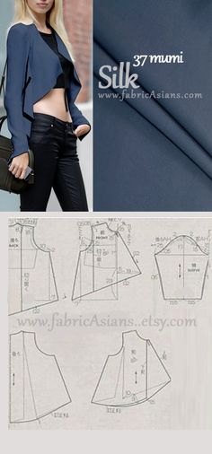 Silk crop jacket, pattern instructions