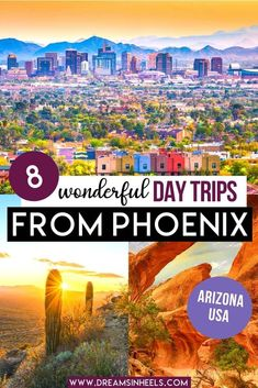 Are you looking for the best day trips from Phoenix Arizona? From Phoenix, you can choose from lots of great road trip options. There is plenty to see in terms of nature and culture, so you can expect to have loads of fun. Here's a list of the top day trips from Phoenix AZ. | Phoenix Arizona aesthetic | Phoenix Arizona photography | Arizona travel | Arizona aesthetic | phoenix travel guide | phoenix trip | phoenix az thins to do in | phoenix az photography | road trip USA | USA road trip… Usa Travel Guide, Budget Travel, Travel Usa, Travel Guides, Travel Tips, Travel Destinations, Barbados, Travel Itinerary Template, Usa Usa
