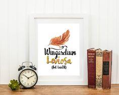 Harry Potter Poster Wingardium Leviosa Kunst von EmilysWanderlust
