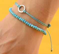 Turquoise bracelet by zzaval on Etsy, $25.50