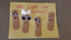 13 Affordable But Awesome Nurses Week Celebration Ideas - NurseBuff Nurses Week Gifts, Happy Nurses Week, Staff Gifts, Nurse Gifts, Teacher Gifts, Nurses Week Ideas, Nursing Home Crafts, Nursing Home Activities, Elderly Activities