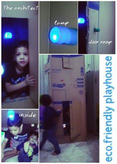 the lamp made from flashlight + imagination and the door knop made from crayon :) *the architect was my '6yo' son *