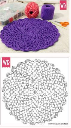 1 million+ Stunning Free Images to Use Anywhere Motif Mandala Crochet, Crochet Coaster Pattern, Crochet Rug Patterns, Crochet Circles, Crochet Diagram, Crochet Designs, Diy Crafts Crochet, Crochet Home, Crochet Projects