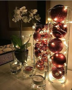 Waterproof LED String Fairy Lights Artificial fir tree as Christmas decoration? A synthetic Christmas Tree or even a real one? Classy Christmas, Silver Christmas, Christmas Holidays, Christmas Crafts, Christmas 2019, Christmas Fairy Lights, Christmas Porch, Prim Christmas, Christmas Vacation