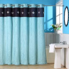 Meridian Polyester Shower Curtain with Grommet