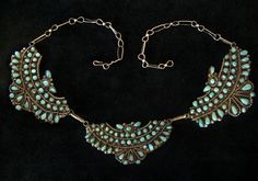 Antique Native American Thunderbird Necklace, Turquoise & Silver Indian Jewelry. $799.00, via Etsy.