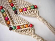 Macrame Belt (Etsy) ♫° Teresa Restegui http://www.pinterest.com/teretegui/°♫