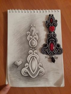 Bead Embroidery Jewelry, Beaded Embroidery, Beaded Jewelry, Soutache Pendant, Soutache Necklace, Soutache Pattern, Jewellery Sketches, Jewelry Making Tutorials, Craft Work