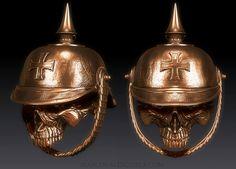 WW1 German Infantry skull biker bell designed by Marco Valenzuela 2013