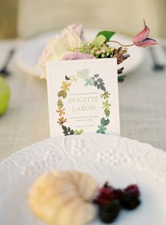 love the colors in this invite by Sugar and Fluff and letter press inside
