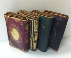 Clutches that look like books. Genius!  - I wish I could find somewhere these are for sale.  All that comes up on a google image search is a BUNCH of pinterest links.  :(