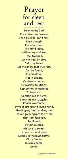 Let this prayer for sleep and rest inspire you to seek comfort in the Lord. True rest comes from learning to trust God. If we rely on our circumstances to give us peace, we can never sleep soundly. Instead, let the love and forgiveness of Christ bring cal Prayer Scriptures, Bible Prayers, Faith Prayer, Prayer Quotes, Spiritual Quotes, Bible Quotes, Qoutes, Thankful Scripture, Prayer For Wisdom
