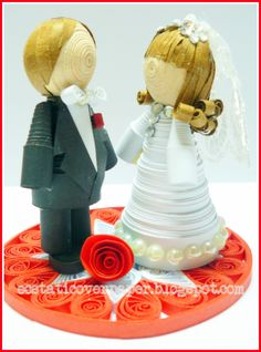 Quilled 3D Bride and Groom
