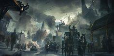 [DevSpeak] A Clash of Styles - Black Gold Online - Steampunk Fantasy MMORPG coming soon from Snail Games Ville Steampunk, Steampunk City, Steampunk Kunst, Steampunk Artwork, Victorian Steampunk, Fantasy Concept Art, Sci Fi Fantasy, Dark Fantasy, Victorian London