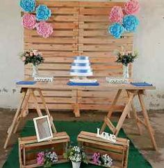Prince Birthday Party, Birthday Parties, Baby Shower Decorations, Wedding Decorations, Eid Party, Pallet Wedding, Rustic Backdrop, Ideas Para Fiestas, Bricolage