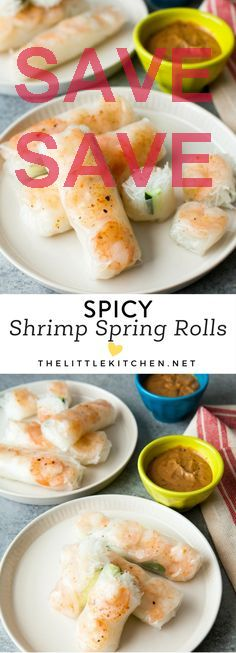 Spicy Shrimp Spring Rolls 50 mins to make makes 12-13 spring rolls Ingredients Seafood 1 lb Shrimp Produce 1 Thai basil fresh leaves Condiments 2 tbsp Hoisin sauce  cup Peanut butter creamy Pasta & Grains 1 6.75-ounce package Rice noodles 1 Rice paper Baking & Spices 1 2/3 tbsp Gourmet japanese seven spice with shichimi togarashi seasoning  tsp Granulated sugar Liquids 2/3 cup Water Other 1 Cucumber (cut in half and then into wedges) Seaz