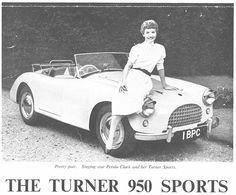 OLDE STARS AND THEIR FANCY CARS - PETULA CLARK - TURNER 950 SPORTSCAR