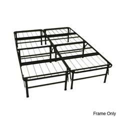GreenHome123 Queen size Folding Metal Platform Bed Frame - No Box-Spring Required - Home - Mattresses - Mattress Accessories - Bed Frames