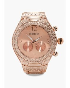 Borrowing from the boys never looked so glam! With a touch of rhinestones here and a dose of rose gold metal there, this bebe watch is sure to make your everyday a whole lot chicer. Try it with stacked bracelets for a cool weekend look.