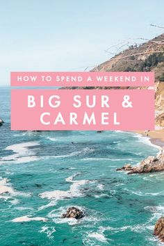 Thinking of a weekend getaway in the US? Big Sur and Carmel need to be at the top of your road trip bucket lists! On this post, I share how to rock a getaway to the Californian coast! Usa Travel Guide, Travel Usa, Travel Guides, Travel Tips, Travel Articles, Travel Advice, Luxury Travel, Us Travel Destinations, Weekend Trips