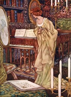 Charles Robinson - Beauty and the Beast from the Big Book of Fairy Tales 1911