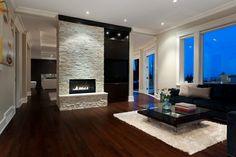 elegant living room interior fireplace large sofa white carpet