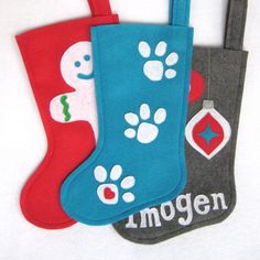 Pet Christmas Stocking  Dog or Cat by stitcholicious on Etsy