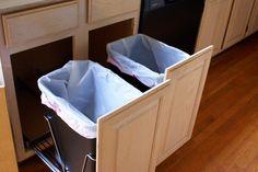 hidden trash bin