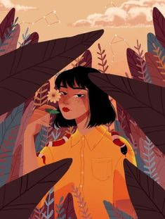 Shared by bedoor ali. Find images and videos about girl, aesthetic and sad on We Heart It - the app to get lost in what you love. Art Inspo, Inspiration Art, Portrait Illustration, Character Illustration, Digital Illustration, Illustration Styles, Portraits Illustrés, Art Sketches, Art Drawings