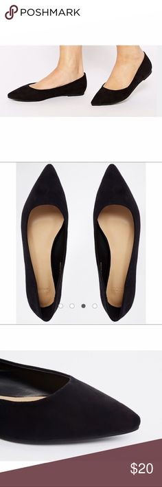 Asos Black Life Story Pointed Ballet Flats NWT Asos Life Story Pointed Ballet Flats, Black, Size US 10, Really cute & Comfortable ASOS Shoes Flats & Loafers