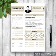 Unique Resumes Resume Template  Free Cover Letter  Pinterest  Free Cover Letter .