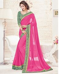 Pink Color Georgette Casual Party Sarees : Kartisha Collection  YF-41302