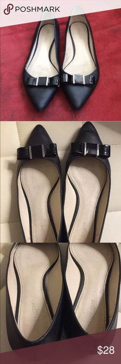 Coach Saffiano pointy toe leather flats Excellent condition. Normal wear and tear. 100% leather. MY PRICE IS FIRM Coach Shoes Flats & Loafers