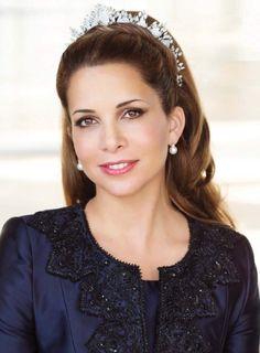 TIARA ALERT:  Princess Haya of Jordan wore her mother's Diamond Halo Tiara at at May photo-shoot for the June 2017 issue of Majesty Magazine.    Photo: Philip Newton