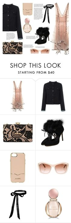 """A little sweet, a little tough"" by juliehalloran ❤ liked on Polyvore featuring Alexander McQueen, rag & bone/JEAN, Love Moschino, Rebecca Minkoff, Chanel and Bulgari"