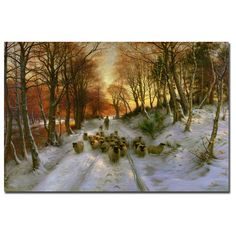 Trademark Joseph Faruqharson 'Glowing Tints of Evening Hours' Canvas Art