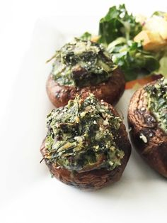 Skinny Spinach Stuffed Mushrooms — The Skinny Fork