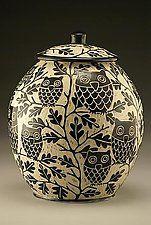 "Tarro del búho de la galleta por Jennifer Falter (cerámica Cookie Jar) (11 ""x 9"")"